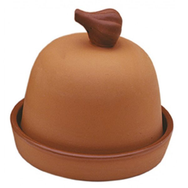 Small terra cotta garlic baker